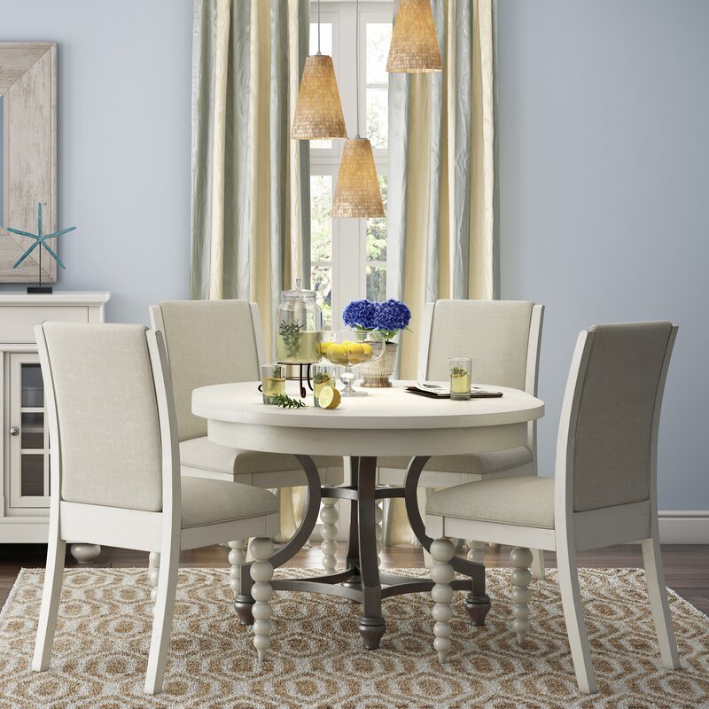 Take A Bite Out Of 24 Modern Dining Rooms: Lark Manor Saguenay Round Dining Table & Reviews