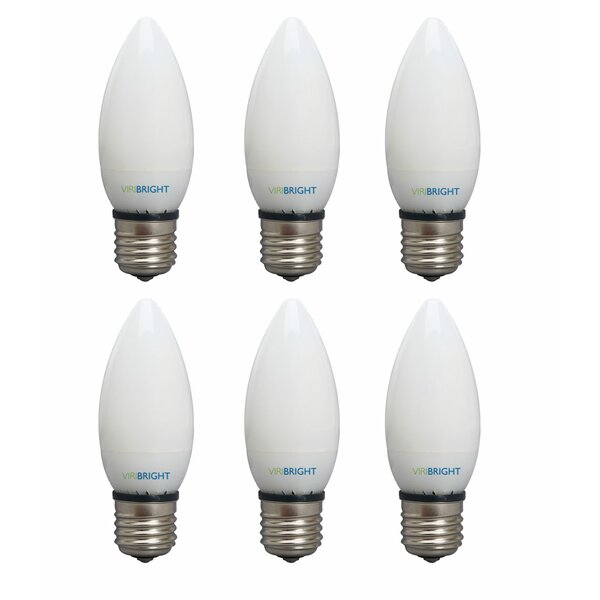 3W Frosted E12 LED Light Bulb (Set of 6) by Viribright