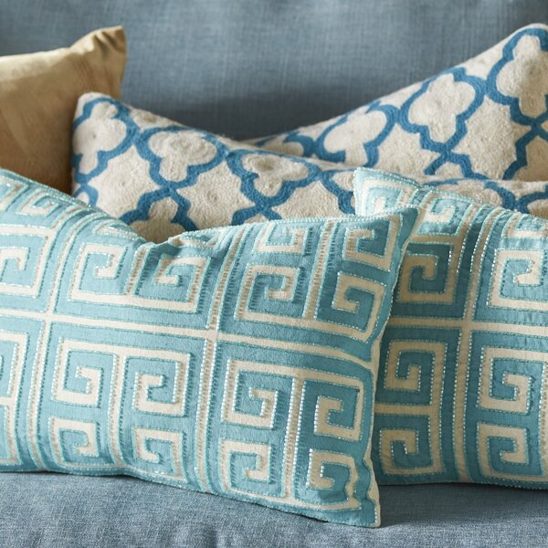Modern Greek Key Small Pillow Set (Set of 2) by Mercury Row