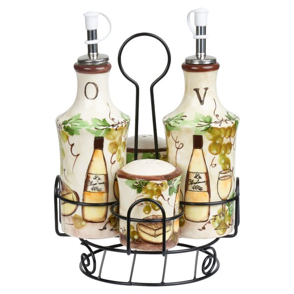 5 Piece Grape Ceramic Condiment Set by Lorren Home Trends
