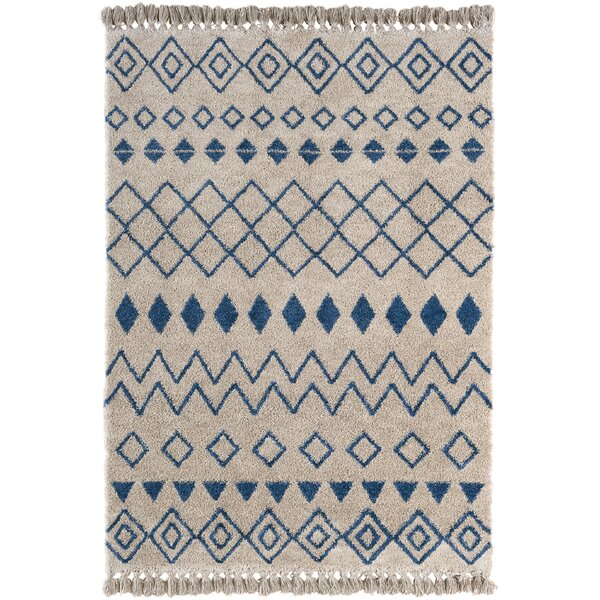 Xanthene Gray/Blue Area Rug by Union Rustic