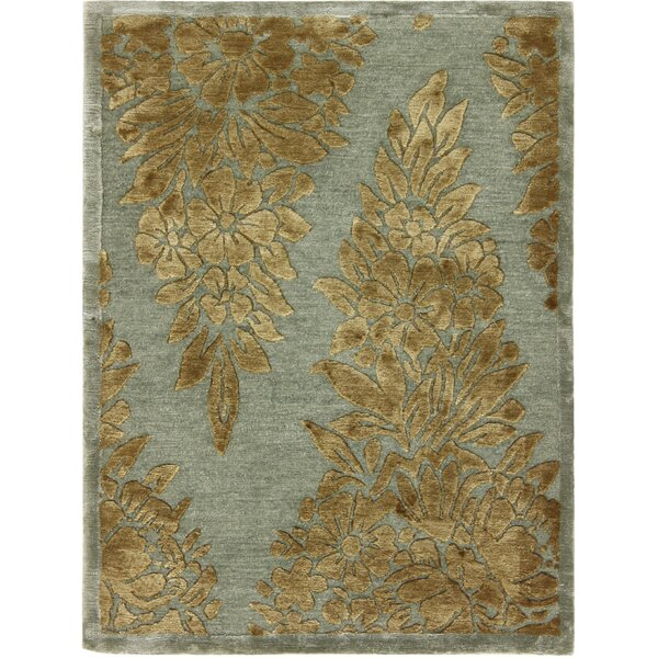 One-of-a-Kind Audwin Tibetan Hand-Knotted Blue/Beige Area Rug by Isabelline