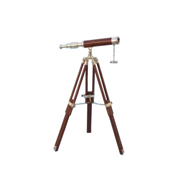 Floor Standing Harbor Master Decorative Telescope by Handcrafted Nautical Decor