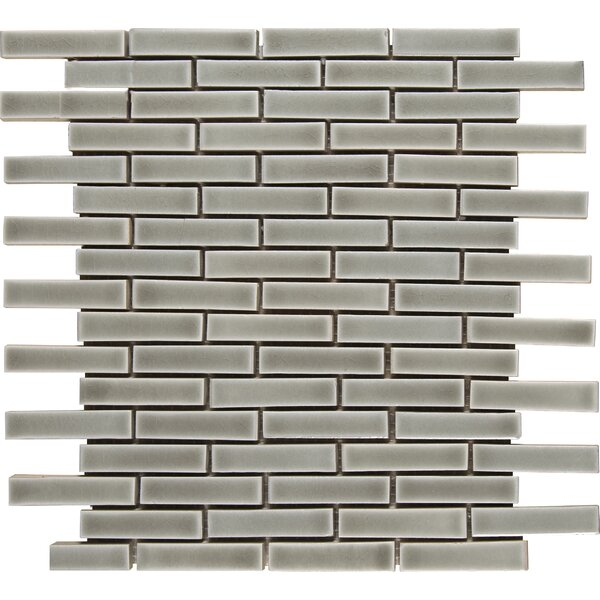 Brick 12 x 12 Ceramic Mosaic Wall Mosaic Tile in Dove Gray by MSI