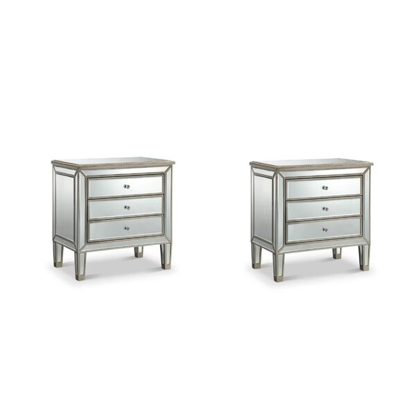 Camile 3 Drawer Nightstand (Set of 2) by Rosdorf Park