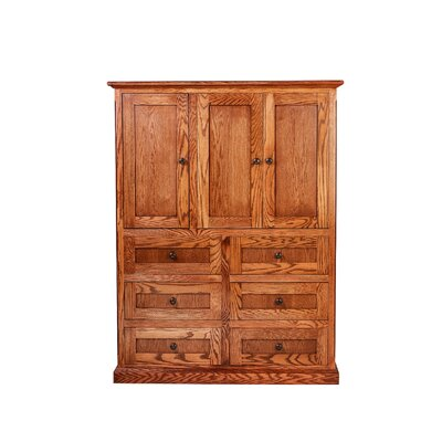 6 Drawer Armoire Forest Designs Color: Spice Alder