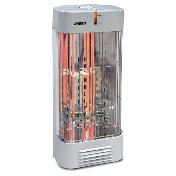 Portable Electric Tower Heater with Thermostat by Optimus