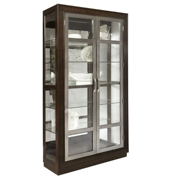 Tiano Modern Double Door Standard Curio Cabinet by Charlton Home