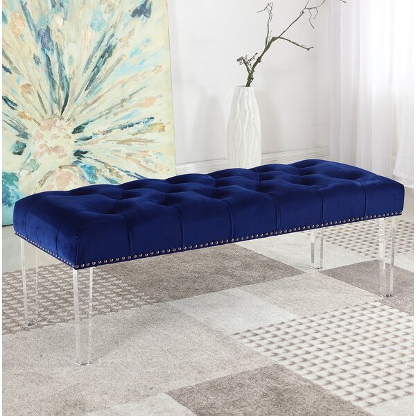 Stockbridge Upholstered Bedroom Bench by House of Hampton