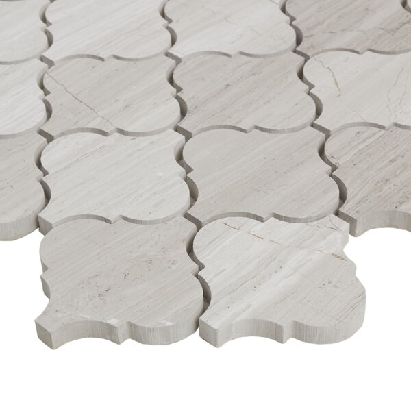 Oxford 13.75 x 13.75 Limestone Mosaic Tile in Chenille White by Itona Tile