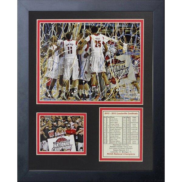 2013 Louisville Cardinals Champions - Celebration Framed Memorabilia by Legends Never Die