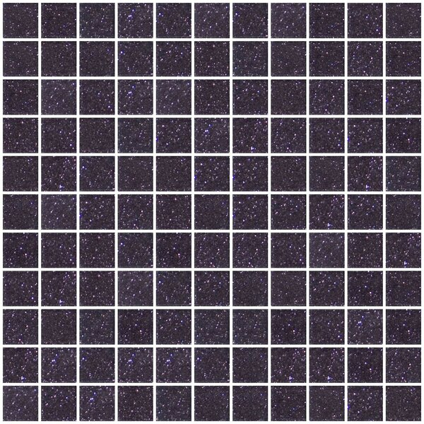 1 x 1 Glass Mosaic Tile in Purple Plum by Susan Jablon