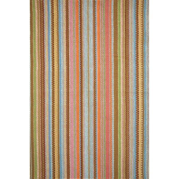 Zanzibar Brown/Orange/Yellow Indoor/Outdoor Area Rug by Dash and Albert Rugs