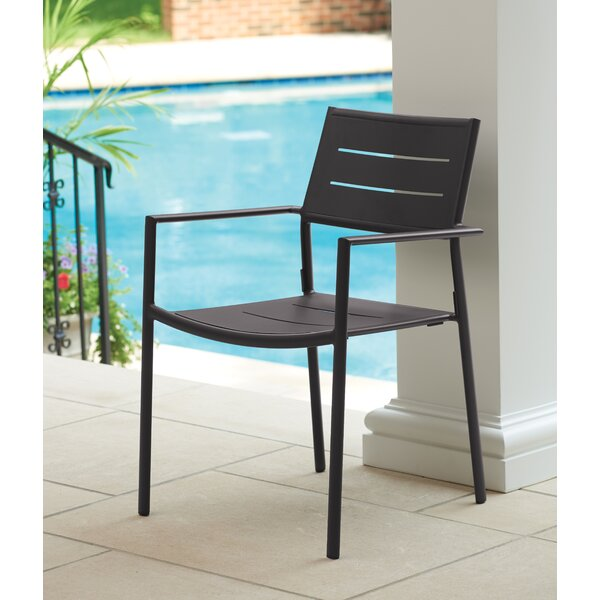 Eiland Stacking Patio Dining Chair (Set of 2) by Latitude Run