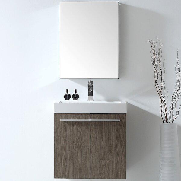 Frausto 23 Wall-Mounted Single Bathroom Vanity Set with Mirror by Brayden StudioFrausto 23 Wall-Mounted Single Bathroom Vanity Set with Mirror by Brayden Studio