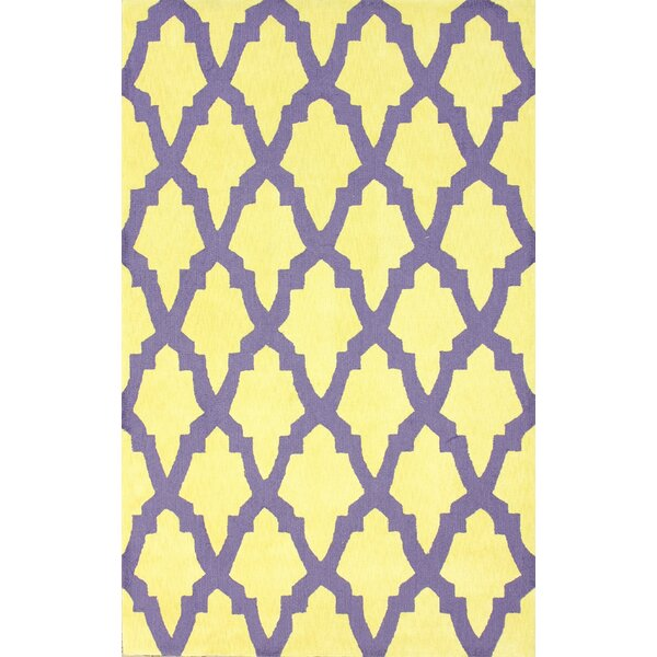 Brilliance Yellow/Purple Damian Area Rug by nuLOOM