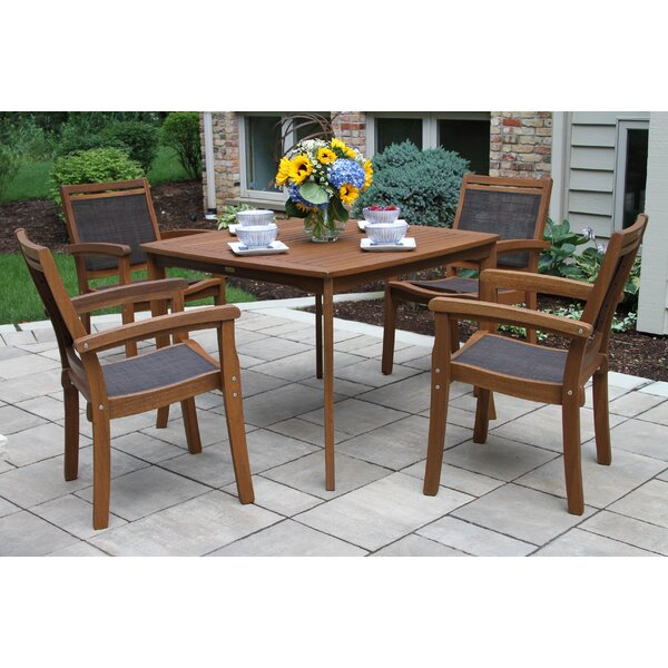 Mallie Tapered Square 5 Piece Dining Set by Beachcrest Home
