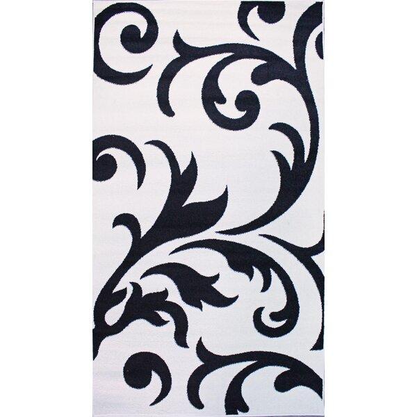 Melendez Ivory/Black Area Rug by Astoria Grand