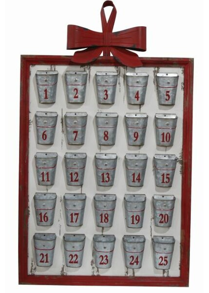 Metal and Wood Framed Advent Calendar by The Holiday Aisle