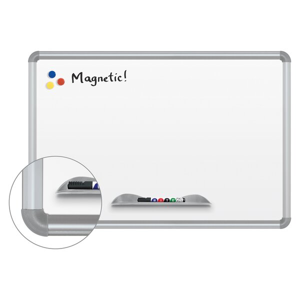 Green-Rite Presidential Frame Magnetic Wall Mounted Whiteboard by Best-Rite®