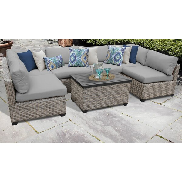 Rochford 7 Piece Sectional Seating Group with Cushions by Sol 72 Outdoor