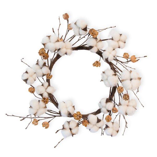 17 Cotton Wreath by Gracie Oaks