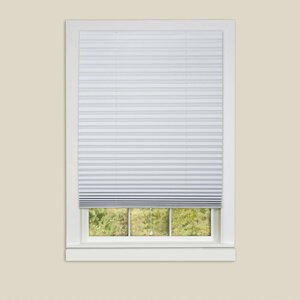 1-2-3 Vinyl Room Darkening Pleated Shade (Set of 6)