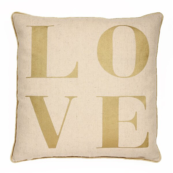 Elliott Contemporary Love Square Throw Pillow by Ivy Bronx
