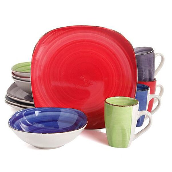 Rolland Color Vibes 12 Piece Dinnerware Set, Service for 4 by Winston Porter
