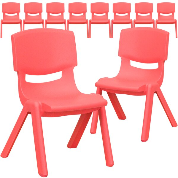 Stackable 10.75 Plastic Classroom Chair (Set of 10) by Flash Furniture
