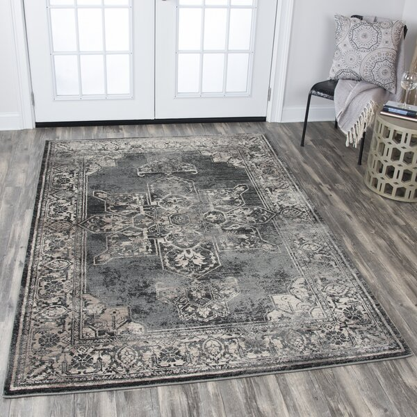 Moreland Gray Area Rug by Charlton Home
