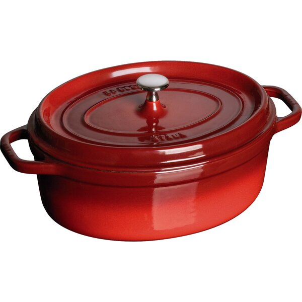 Cast Iron 4.5 Qt. Oval Cocotte by Staub