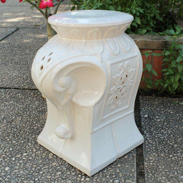 Burleson Elephant Ceramic Garden Stool by Bungalow Rose