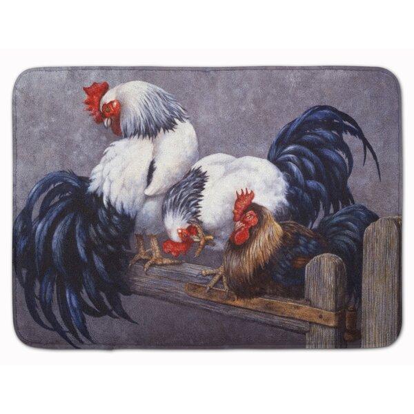 Jaiden Roosters Roosting Memory Foam Bath Rug By August