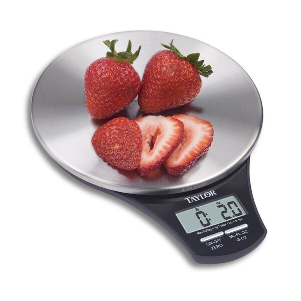 Slim Stainless Digital Kitchen Scale by Taylor