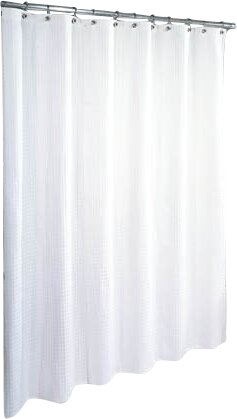 Waffle Weave Cotton Shower Curtain by Symple Stuff