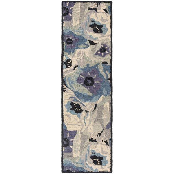 Hand-Tufted Blue Area Rug by Martha Stewart Rugs
