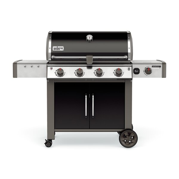 Genesis II LX E-440 4-Burner Natural Gas Grill with Side Burner by Weber