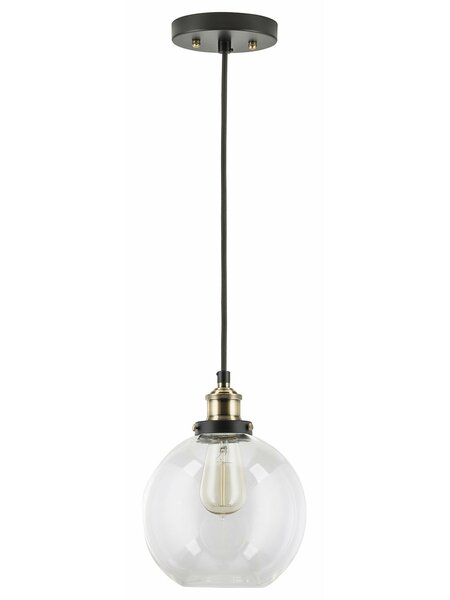 Bundy 1-Light Bowl Pendant by Mercury Row