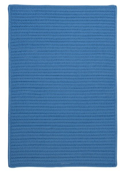 Glasgow Solid Blue Indoor/Outdoor Area Rug by Charlton Home