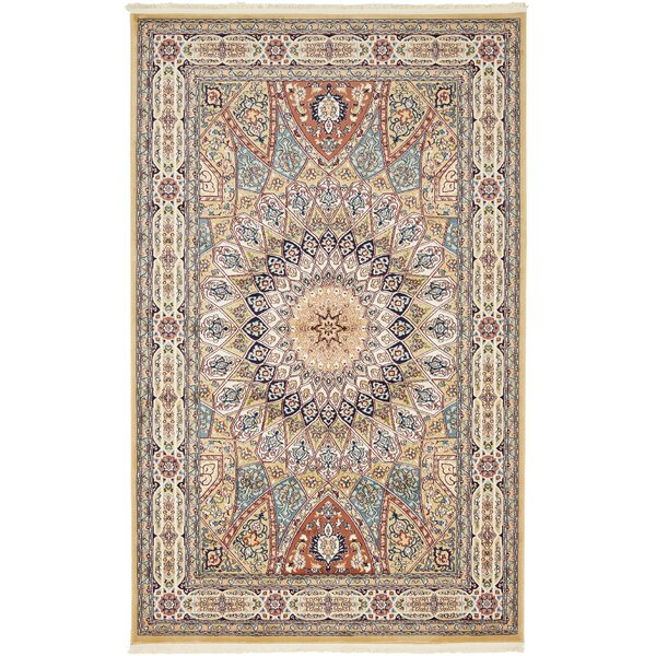 Jackson Beige Area Rug by Astoria Grand