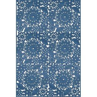 Comparison Lanier Hand Woven Blue Indoor/Outdoor Area Rug ByLark Manor
