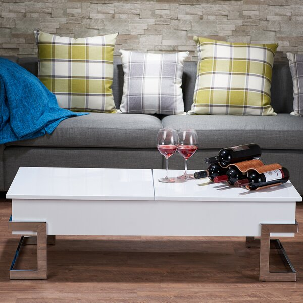 Minna Coffee Table with Lift Top with Tray Top by Mercer41 Mercer41