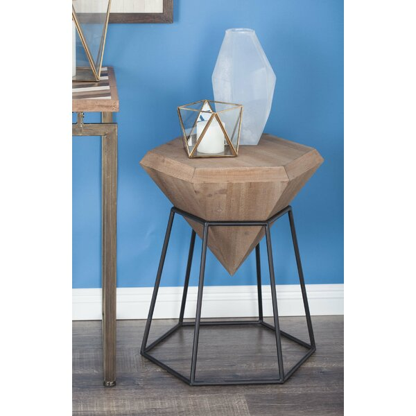 Metal Diamond End Table by Cole & Grey