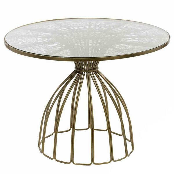 Cevenola Wire Work Dining Table by Bungalow Rose