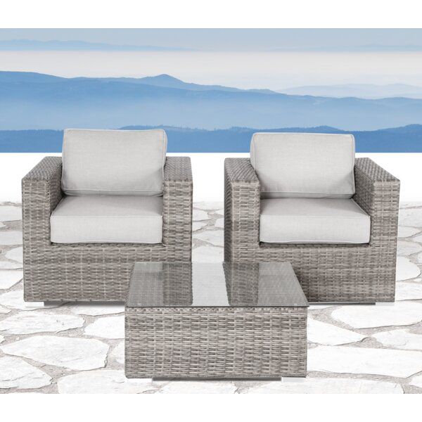 Deandra 3 Piece Seating Group With Cushions By Sol 72 Outdoor