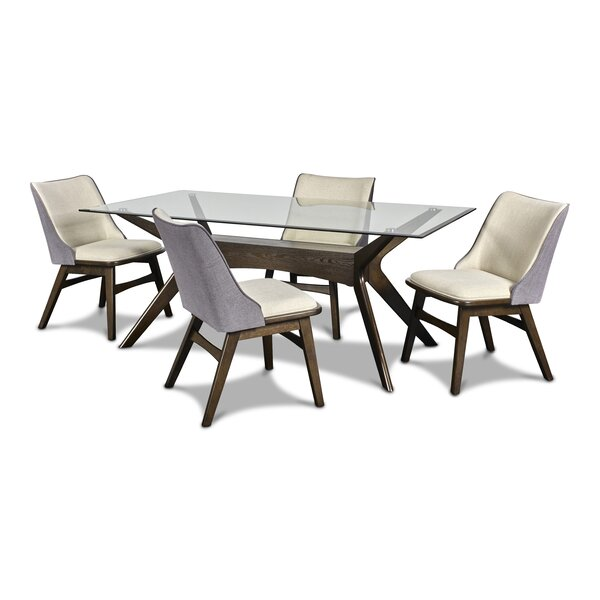 Tadeo 5 Piece Dining Set by George Oliver George Oliver