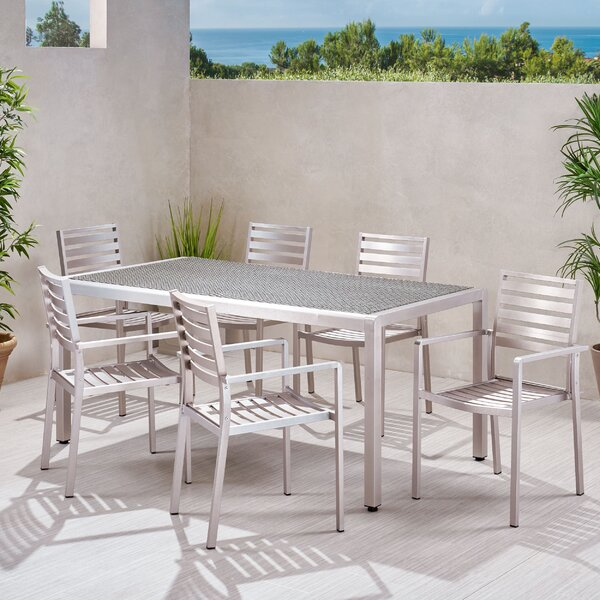 Naima Outdoor 7 Piece Dining Set by Breakwater Bay
