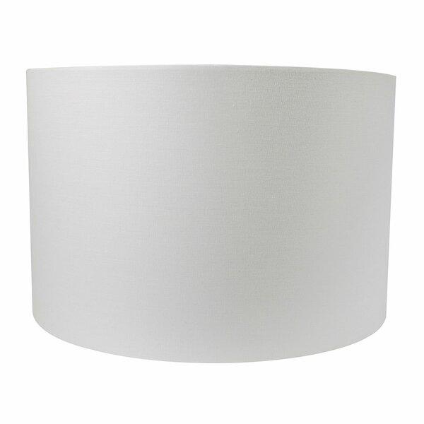 8 H x 12 W Cotton Drum Lamp Shade ( Spider ) in White