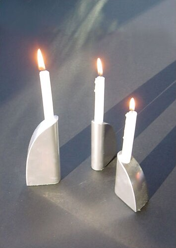 George Schmidt Metal Candlesticks (Set of 3) by Ginkgo